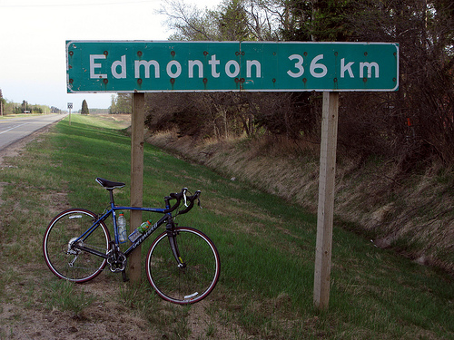 36 Km to Edmonton
