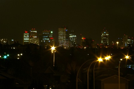 Night Shot with 200mm Rokkor, Level corrected