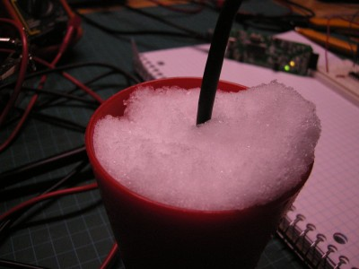 Cup o' snow to check and see if the Opamp is biased correctly