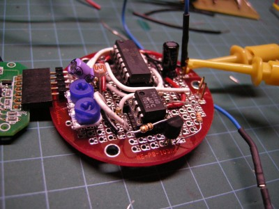 Finished Sensor board with both light sensing and temperature sensing