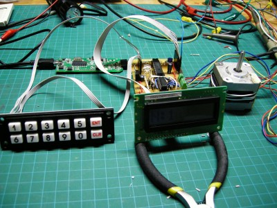 Astrophotography electrics working with keypad, LCD and stepper motor