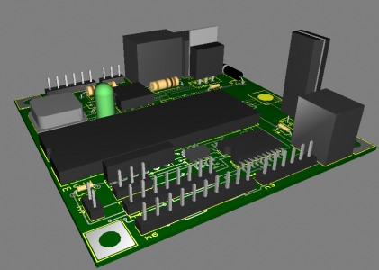 Viscometer Board 3D View