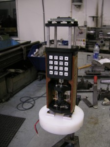 Viscometer, assembled on base