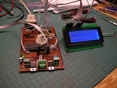 Prototype viscometer board out futher
