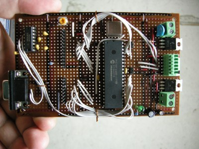 The prototype viscometer board