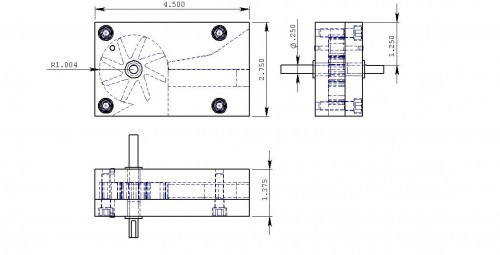EDM wire Chopper assembly drawing