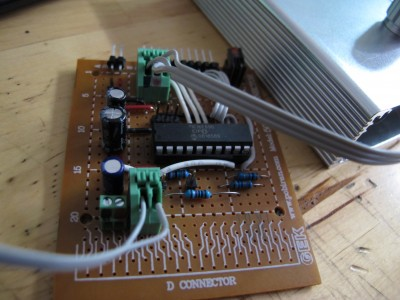 The board inside the LCD tester