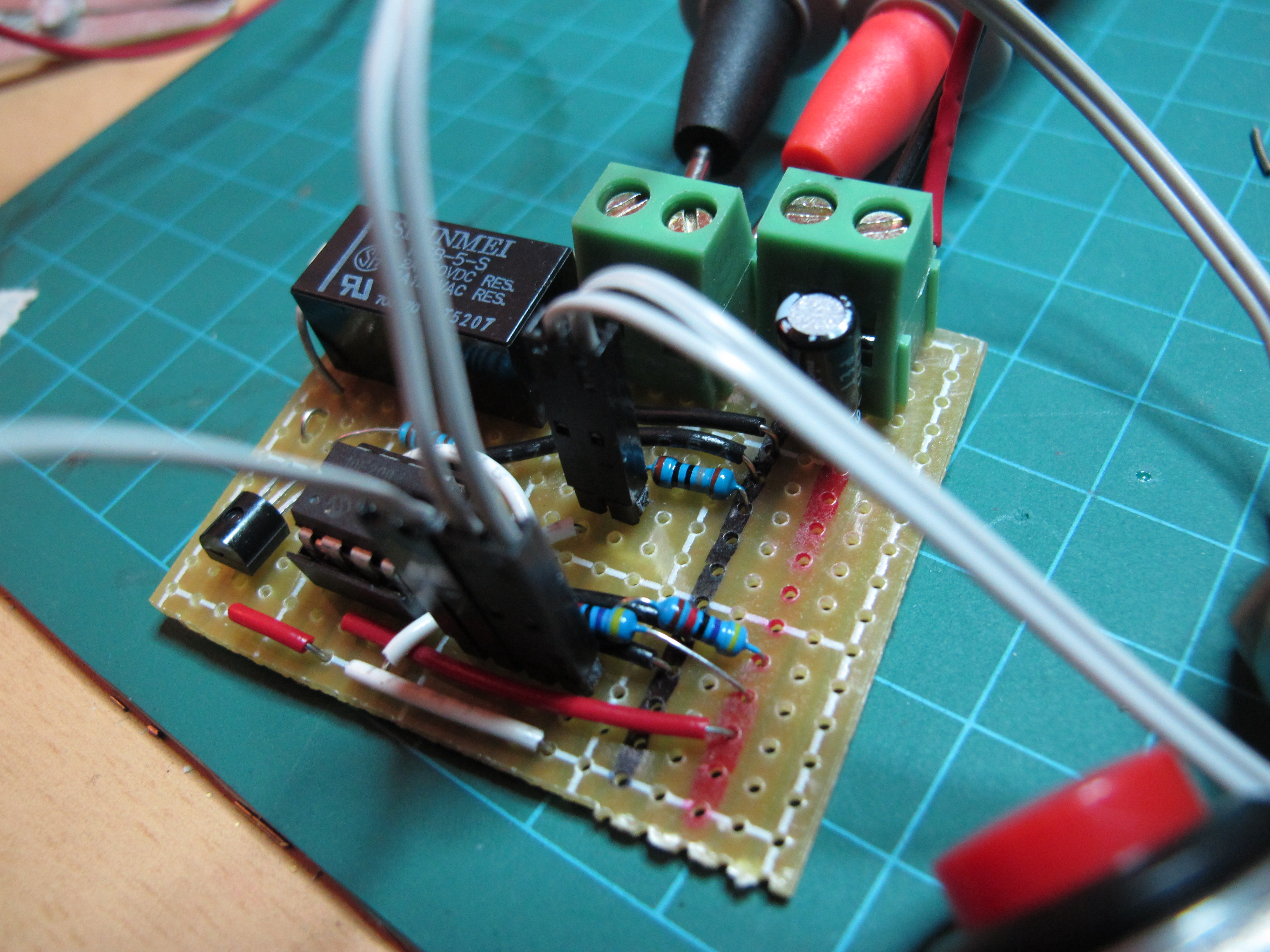 Electronics Page 4 Steves Junk Circuits 8085 Projects Blog Archive 15v Led Flashlight Circuit Timer Lamp On The Pcb