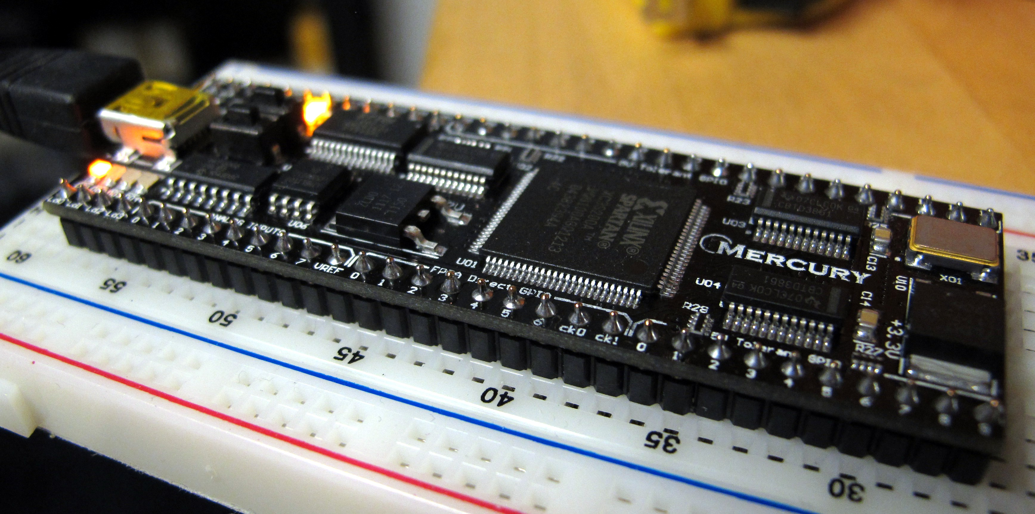 The Mercury FPGA from the side