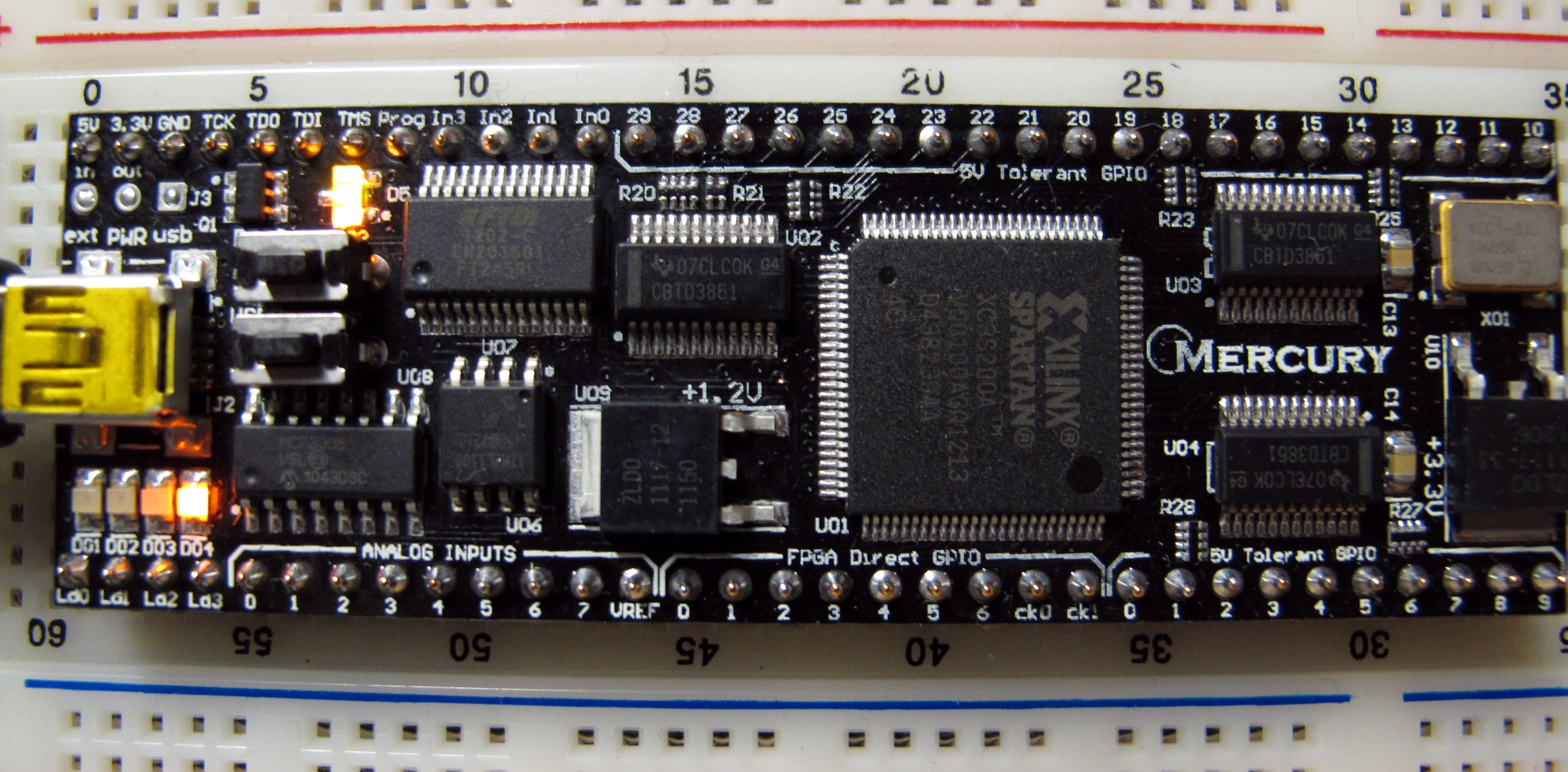 The Mercury FPGA unit from the side