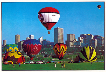 This is from a postcard from the late 1980's as far as I can tell. You can tell simply by the super saturation of the photo. Also, there was a truck stop on the south side of Edmonton on Calgary Trail called 'Mr Johns'. I believe it closed down in the late 2000's due to the construction of a bypass route which decimated the businesses in that location.